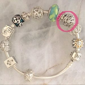 Pandora Silver Open Detail CHARM ONLY